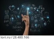 Купить «Medical background with many different symbols and icons», фото № 28480166, снято 15 мая 2014 г. (c) Ingram Publishing / Фотобанк Лори