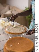 Купить «Unrecognizable Woman Cooking at home. Dessert Concept. Healthy Lifestyle. Cooking At Home. Prepare Food», фото № 28483038, снято 1 декабря 2014 г. (c) Ingram Publishing / Фотобанк Лори