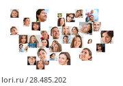 Купить «Collection of different people portraits», фото № 28485202, снято 14 ноября 2019 г. (c) Ingram Publishing / Фотобанк Лори