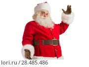 Купить «Santa Claus gesturing his hand isolated over white background. Presenting something», фото № 28485486, снято 17 января 2013 г. (c) Ingram Publishing / Фотобанк Лори