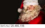 Купить «Santa Claus closeup portrait indoors in real life», фото № 28486198, снято 31 января 2013 г. (c) Ingram Publishing / Фотобанк Лори