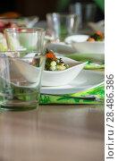 Купить «Caviar salad on table at restaurant», фото № 28486386, снято 12 октября 2013 г. (c) Ingram Publishing / Фотобанк Лори