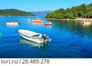 Купить «Ksamil beach, Albania.», фото № 28489278, снято 21 июля 2016 г. (c) Юрий Брыкайло / Фотобанк Лори
