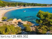 Купить «Summer morning Platanitsi beach (Greece).», фото № 28489302, снято 23 июля 2016 г. (c) Юрий Брыкайло / Фотобанк Лори