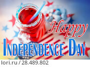 Купить «drink in mason jar at american independence day», фото № 28489802, снято 28 мая 2015 г. (c) Syda Productions / Фотобанк Лори