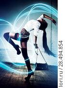 Купить «Young sexy asian woman fashion. With special lightning effect.», фото № 28494854, снято 6 ноября 2011 г. (c) Ingram Publishing / Фотобанк Лори