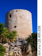 Javea denia San antonio Cape old windmills masonry structure in Alicante province spain (2013 год). Стоковое фото, фотограф Tono Balaguer / Ingram Publishing / Фотобанк Лори