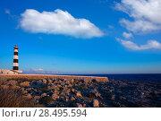 Купить «Menorca Cap de Artrutx Lighthouse in southwest cape at Balearic Islands», фото № 28495594, снято 29 мая 2013 г. (c) Ingram Publishing / Фотобанк Лори