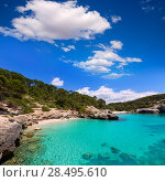 Купить «Cala Mitjana y Mitjaneta in Menorca Ciutadella at Balearic Islands», фото № 28495610, снято 26 мая 2013 г. (c) Ingram Publishing / Фотобанк Лори