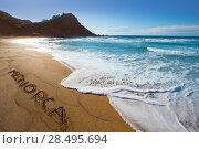 Купить «Cala Pilar beach in Menorca Alfuri de Dalt at Balearic Islands of Spain», фото № 28495694, снято 29 мая 2013 г. (c) Ingram Publishing / Фотобанк Лори