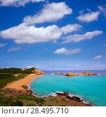 Купить «Cala Pregonda in Menorca at Balearic islands es Mercadal», фото № 28495710, снято 29 мая 2013 г. (c) Ingram Publishing / Фотобанк Лори