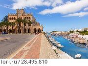 Купить «Ciutadella Menorca city Town Hall and Port in Ciudadela at Balearic islands», фото № 28495810, снято 26 мая 2013 г. (c) Ingram Publishing / Фотобанк Лори