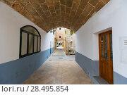 Купить «Ciutadella Menorca barrel vault passage downtown Ciudadela at Balearic islands», фото № 28495854, снято 26 мая 2013 г. (c) Ingram Publishing / Фотобанк Лори