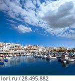 Купить «Ciutadella Menorca marina Port boats view in Balearic Islands», фото № 28495882, снято 25 мая 2013 г. (c) Ingram Publishing / Фотобанк Лори