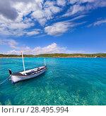 Купить «Menorca Es Grau clean port with llaut boats in Balearic Islands», фото № 28495994, снято 30 мая 2013 г. (c) Ingram Publishing / Фотобанк Лори