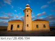 Купить «Menorca Punta Nati Faro lighthouse in Ciutadella Balearic Islands of Spain», фото № 28496194, снято 24 мая 2013 г. (c) Ingram Publishing / Фотобанк Лори