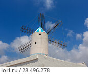 Купить «Menorca Sant Lluis San Luis Moli de Dalt windmill in Balearic islands of Spain», фото № 28496278, снято 28 мая 2013 г. (c) Ingram Publishing / Фотобанк Лори