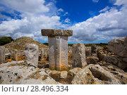 Купить «Menorca Taules Torralba de en Salort Salord prehistoric sanctuary in Balearic islands», фото № 28496334, снято 30 мая 2013 г. (c) Ingram Publishing / Фотобанк Лори