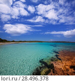 Купить «Menorca Son Saura beach in Ciutadella turquoise color at Balearic islands», фото № 28496378, снято 25 мая 2013 г. (c) Ingram Publishing / Фотобанк Лори