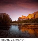 Купить «Yosemite Merced River el Capitan and Half Dome in California National Parks US», фото № 28496494, снято 19 апреля 2013 г. (c) Ingram Publishing / Фотобанк Лори