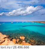 Купить «Formentera Cala Saona beach one of the best beaches in world near Ibiza», фото № 28496666, снято 27 июня 2013 г. (c) Ingram Publishing / Фотобанк Лори