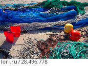Купить «Formentera Balearic Islands fishing tackle nets longliner trawler trammel», фото № 28496778, снято 30 июня 2013 г. (c) Ingram Publishing / Фотобанк Лори