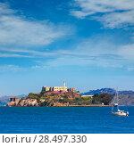 Купить «Alcatraz island penitentiary in San Francisco Bay California USA view from Pier 39», фото № 28497330, снято 20 апреля 2013 г. (c) Ingram Publishing / Фотобанк Лори