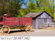 California Columbia carriage in a real old Western Gold Rush Town in USA (2013 год). Стоковое фото, фотограф Tono Balaguer / Ingram Publishing / Фотобанк Лори