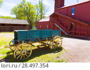 Купить «California Columbia carriage in a real old Western Gold Rush Town in USA», фото № 28497354, снято 19 апреля 2013 г. (c) Ingram Publishing / Фотобанк Лори