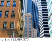 Купить «San Francisco Downtown buildings at California USA», фото № 28497570, снято 20 апреля 2013 г. (c) Ingram Publishing / Фотобанк Лори