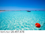 Купить «Illetes Illetas turquoise beach in Formentera Balearic Island», фото № 28497878, снято 4 июня 2013 г. (c) Ingram Publishing / Фотобанк Лори