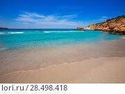 Cala Tarida in Ibiza beach Sant Josep at Balearic Islands (2013 год). Стоковое фото, фотограф Tono Balaguer / Ingram Publishing / Фотобанк Лори