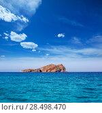 Купить «Ibiza Esparto Island view from sea in Balearic Islands of spain», фото № 28498470, снято 6 июня 2013 г. (c) Ingram Publishing / Фотобанк Лори