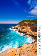 Купить «Ibiza Punta de Sa Galera beach in San Antonio at Balearic Islands Spain», фото № 28498486, снято 9 июня 2013 г. (c) Ingram Publishing / Фотобанк Лори