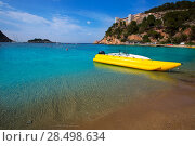Купить «Ibiza Port de Sant Miquel San Miguel beach in Balearic islands Spain», фото № 28498634, снято 7 июня 2013 г. (c) Ingram Publishing / Фотобанк Лори
