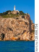 Cabo de la Nao Cape lighthouse in mediterranean sea Alicante Spain. Стоковое фото, фотограф Tono Balaguer / Ingram Publishing / Фотобанк Лори