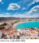 Купить «Peniscola beach and Village aerial view in Castellon Valencian community of spain», фото № 28498986, снято 18 января 2019 г. (c) Ingram Publishing / Фотобанк Лори