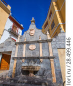 Jerica Castellon village fountain in Alto Palancia of Spain Valencian Community (2013 год). Стоковое фото, фотограф Tono Balaguer / Ingram Publishing / Фотобанк Лори