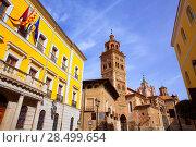 Купить «Aragon Teruel Cathedral and Ayuntamiento City Town Hall in Spain», фото № 28499654, снято 1 ноября 2013 г. (c) Ingram Publishing / Фотобанк Лори