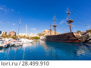 Купить «Alicante marina port boats in Mediterranean Spain Valencian Community», фото № 28499910, снято 21 января 2014 г. (c) Ingram Publishing / Фотобанк Лори