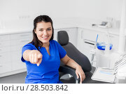Купить «female dentist or nurse at dental clinic office», фото № 28503842, снято 22 апреля 2018 г. (c) Syda Productions / Фотобанк Лори
