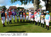 Купить «Pictured this afternoon - 17/10/16 Forget about the Grand National – the biggest horse-racing event on the calendar in Sussex starred junior jockeys racing...», фото № 28507158, снято 17 октября 2016 г. (c) age Fotostock / Фотобанк Лори
