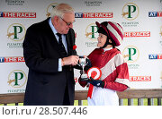 Купить «Pictured this afternoon - 17/10/16 Forget about the Grand National – the biggest horse-racing event on the calendar in Sussex starred junior jockeys racing...», фото № 28507446, снято 17 октября 2016 г. (c) age Fotostock / Фотобанк Лори