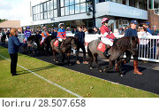 Купить «Pictured this afternoon - 17/10/16 Forget about the Grand National – the biggest horse-racing event on the calendar in Sussex starred junior jockeys racing...», фото № 28507658, снято 17 октября 2016 г. (c) age Fotostock / Фотобанк Лори