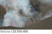 Купить «Извержение вулкана на Камчатке», видеоролик № 28509490, снято 2 февраля 2013 г. (c) А. А. Пирагис / Фотобанк Лори