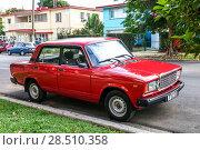 Купить «Lada 2107», фото № 28510358, снято 6 июня 2017 г. (c) Art Konovalov / Фотобанк Лори