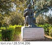 Купить «Памятник Н.В. Гоголю. Вилла Боргезе в Риме. Италия», фото № 28514206, снято 23 апреля 2018 г. (c) Екатерина Овсянникова / Фотобанк Лори