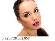 Купить «Portrait of attractive girl with fantasy lips. Make up. Perfect skin», фото № 28532858, снято 27 ноября 2012 г. (c) Ingram Publishing / Фотобанк Лори