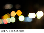 Купить «Glitter bokeh lights defocused background. Multiple colors», фото № 28535010, снято 27 сентября 2009 г. (c) Ingram Publishing / Фотобанк Лори