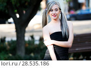Купить «Beautiful and fashion girl with pigtails», фото № 28535186, снято 4 декабря 2011 г. (c) Ingram Publishing / Фотобанк Лори